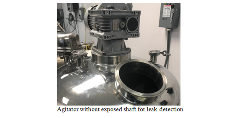 Agitator without exposed shaft for leak detection.png