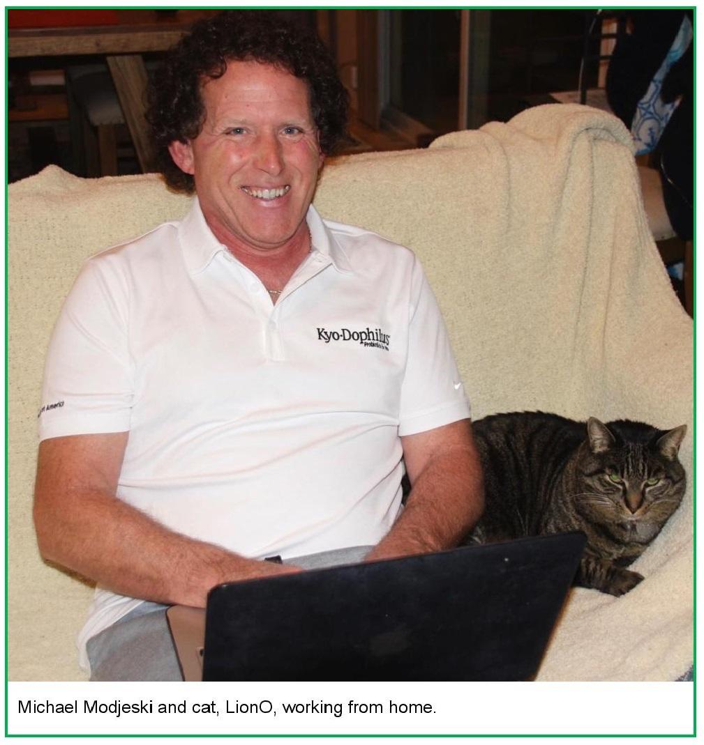 Modjeski and his cat LionO