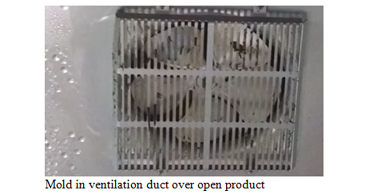 Mold in ventilation duct over open product.png