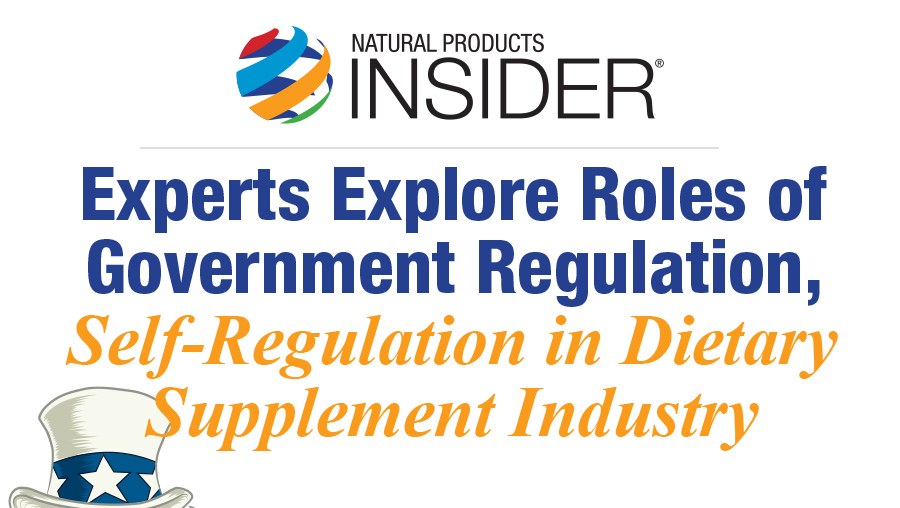 Infographic: SupplySide West Workshop Explores Roles of Regulation, Self-Regulation in Dietary Supplement Industry
