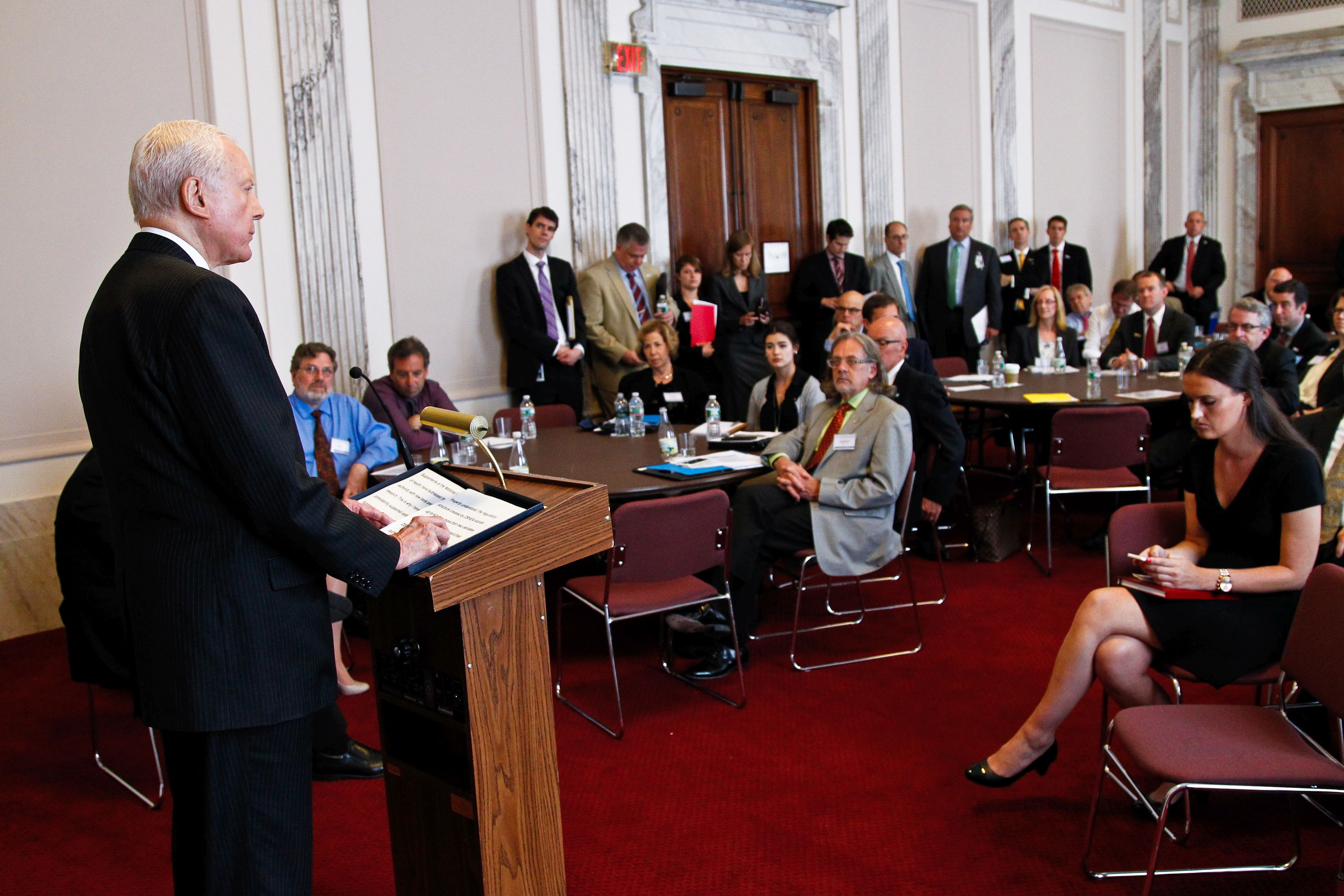 Sen. Orrin Hatch addresses CRN members