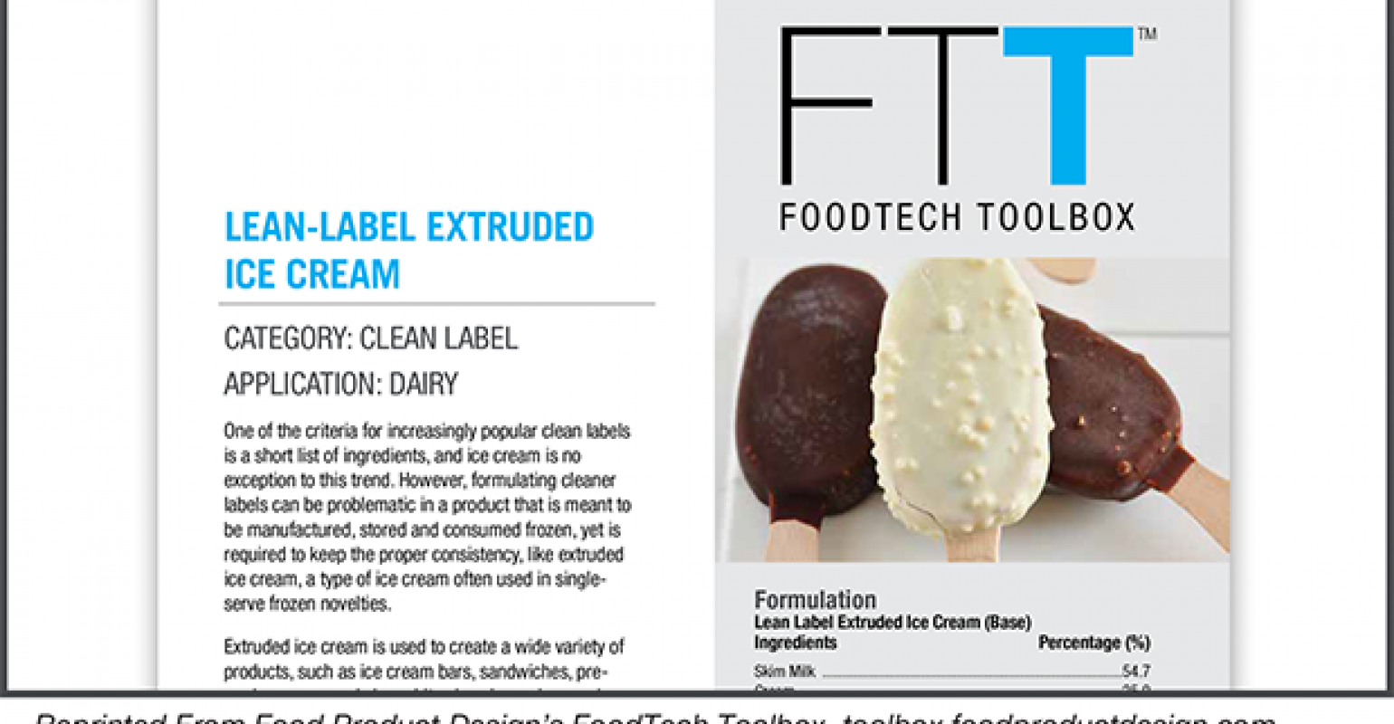 clean-label extruded ice cream | natural products insider
