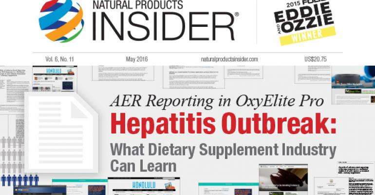 AER Reporting in OxyElite Pro Hepatitis Outbreak: What Dietary Supplement Industry Can Learn