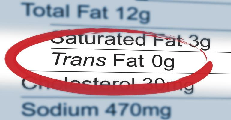 trans fat labeling