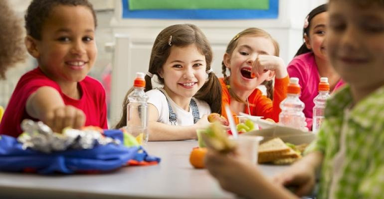 Kids snacking