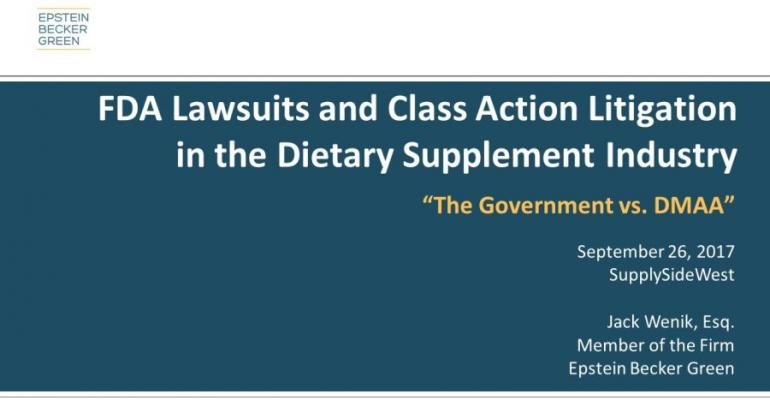Slideshow: Attorney Highlights DMAA FDA Litigation at SupplySide West