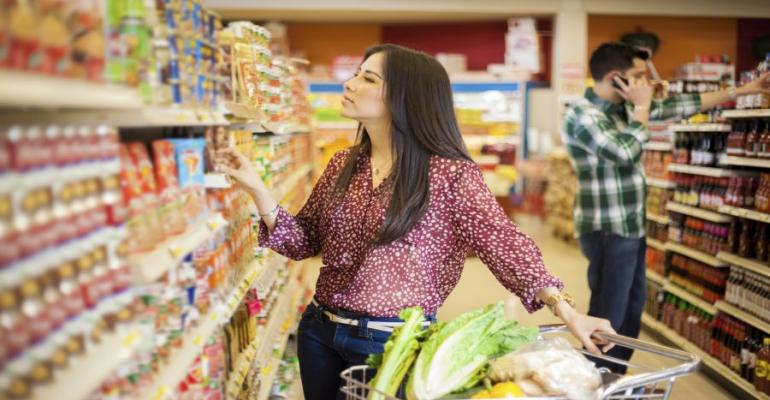 packaged foods grocery shopping