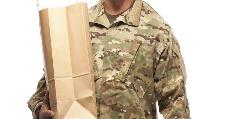 soldier shopping