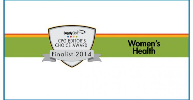 women's health Finalists for 2014 SupplySide Editors Choice Award