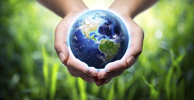 USA globe world