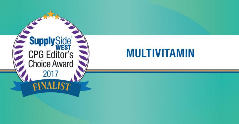 Multivitamin Finalists for 2017 SupplySide CPG Editor's Choice Award