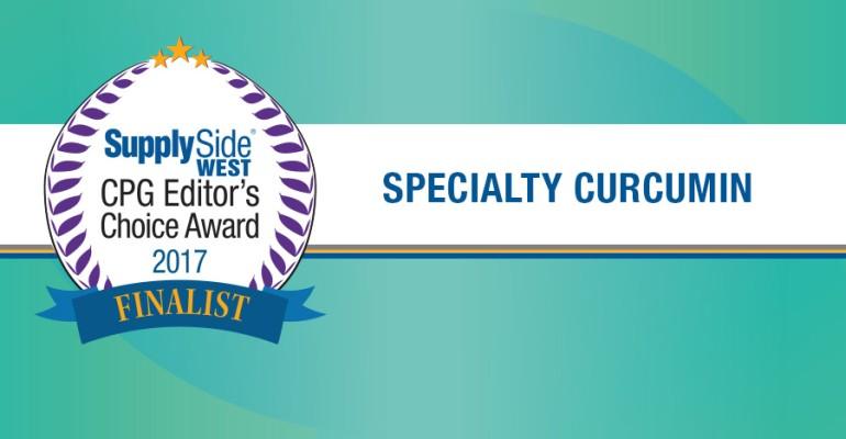 Specialty Curcumin Finalists for 2017 SupplySide CPG Editor's Choice Award