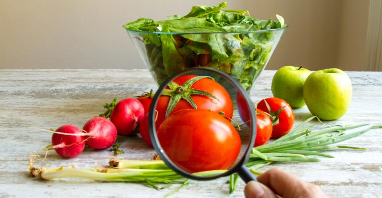 Vegetables Under a Magnifying Glass