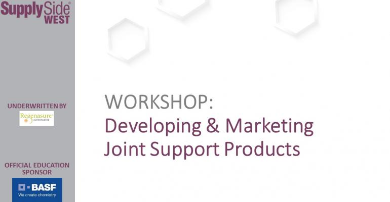 Developing and Marketing Joint Support Products