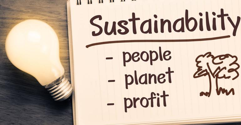 Sustainability Notebook - People, Planet, Profit