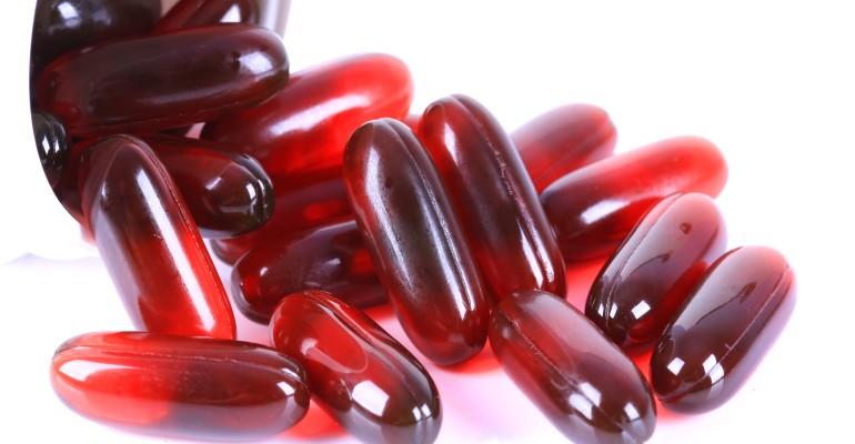 Bottle of Krill Oil Pills