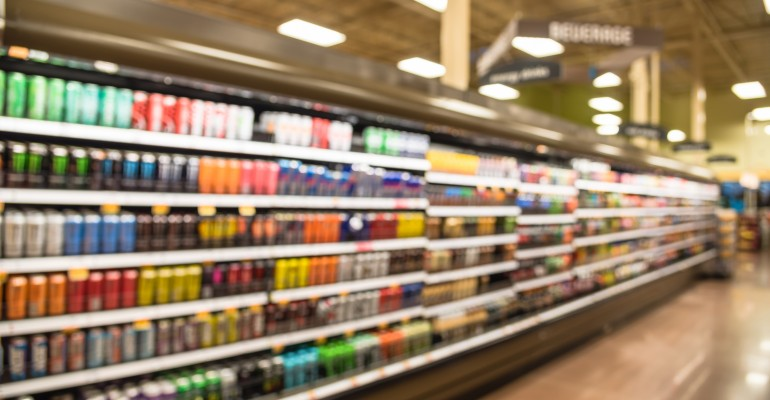 Grocery Aisle with Beverages