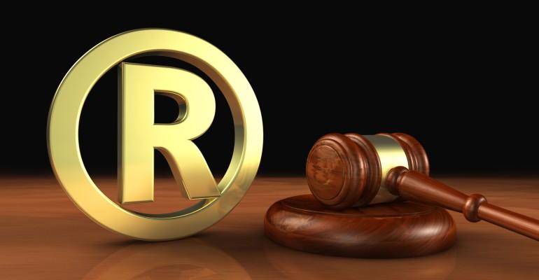 Trademark Sign and Gavel