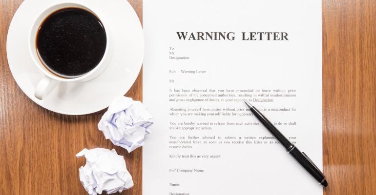 Warning Letter