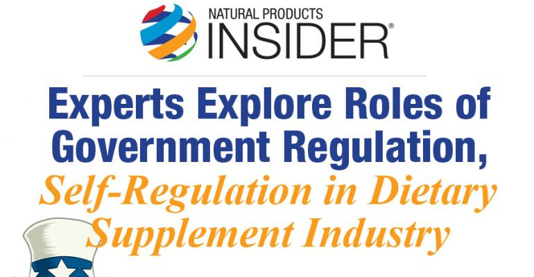 Infographic: SupplySide West Workshop Explores Roles of Regulation, Self-Regulation in Dietary Supplement Industry