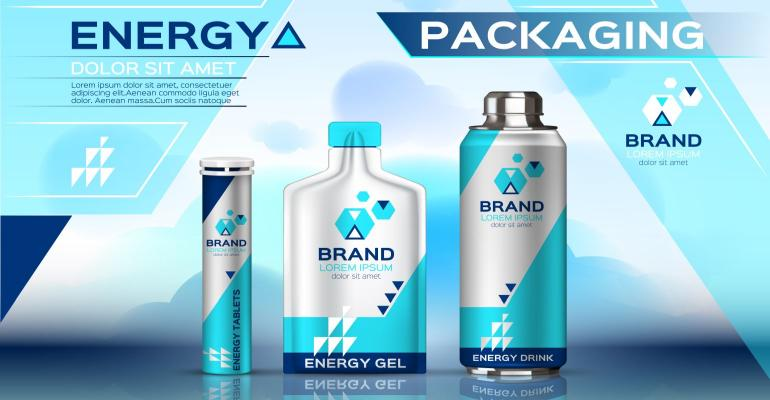 energy products packaging mock up