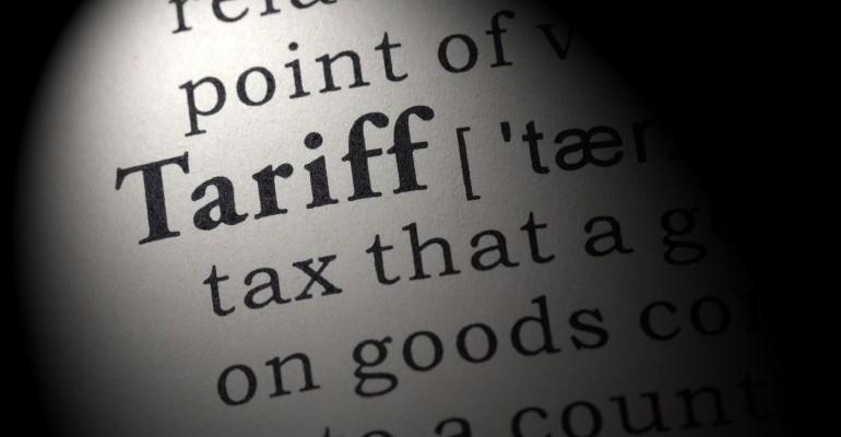 tariff definition tax on goods