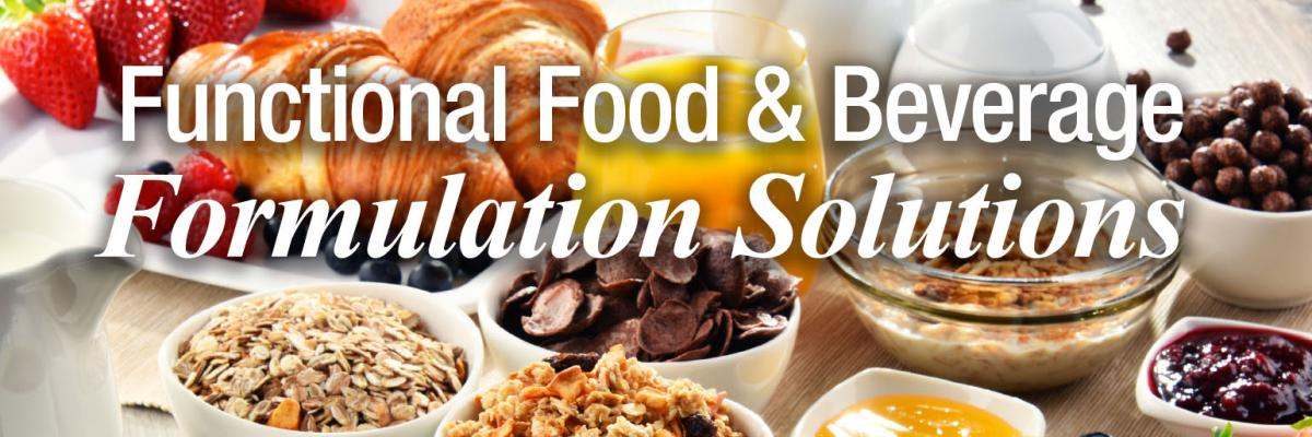 Functional Food & Beverage Formulation Solutions