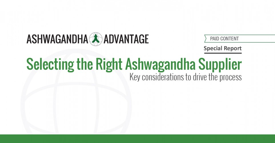 Report: Selecting the Right Ashwagandha Supplier