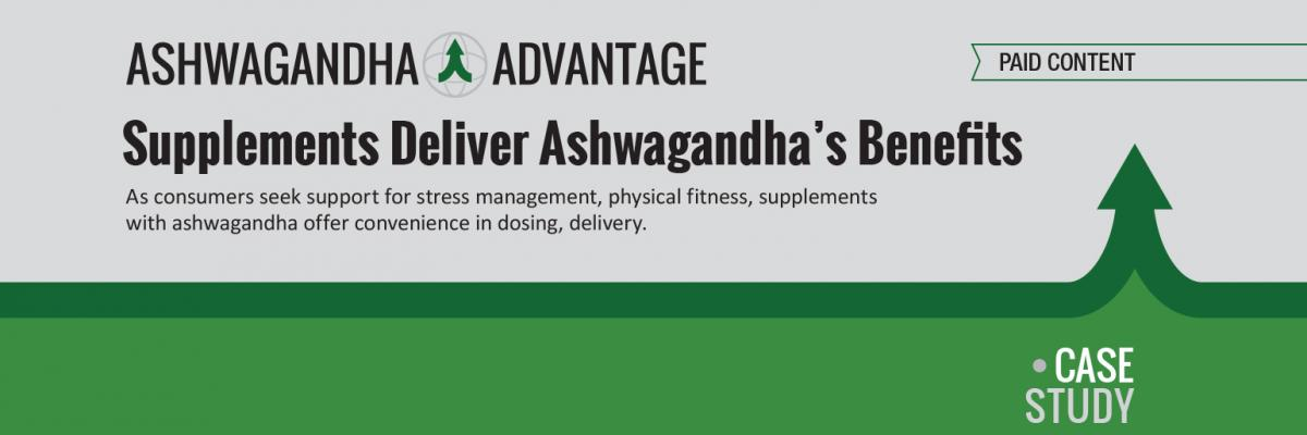 Report: Supplements Deliver Ashwagandha's Benefits