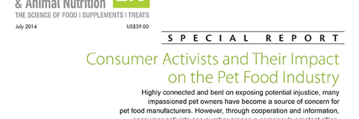 Report: Consumer Activists and Their Impact on the Pet Food Industry