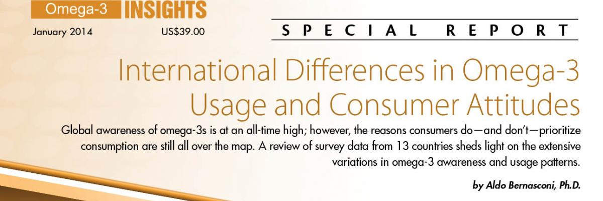 Report: International Differences in Omega-3 Usage and Consumer Attitudes