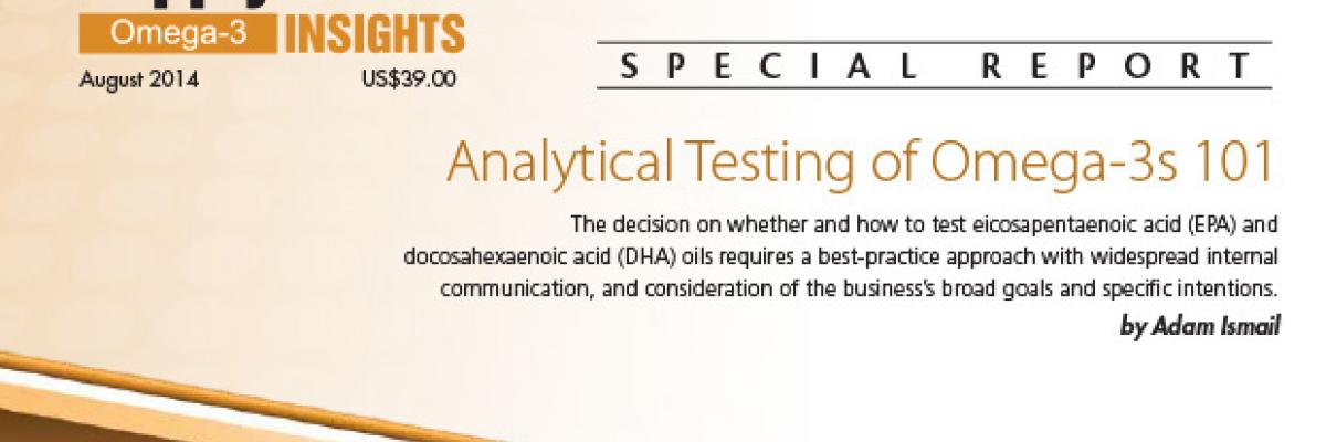 Report: Analytical Testing of Omega-3s 101
