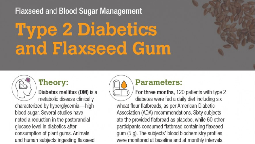 Infographic: Type 2 Diabetics and Flaxseed Gum