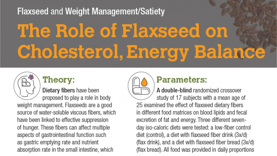 Infographic: The Role of Flaxseed on Cholesterol, Energy Balance