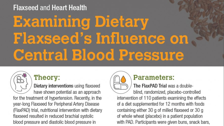Infographic: Examining Dietary Flaxseed's Influence on Central Blood Pressure