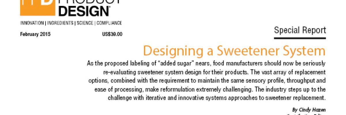 Designing a Sweetener System