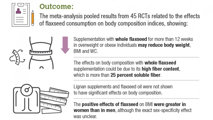 Infographic: Impact of Flaxseed on Weight, Body Composition
