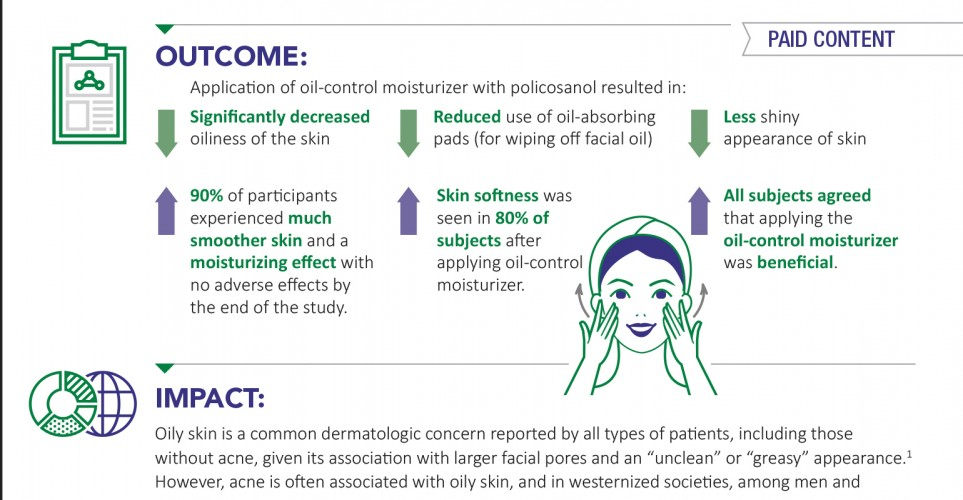Policosanol Supports Oily Skin Management – Infographic