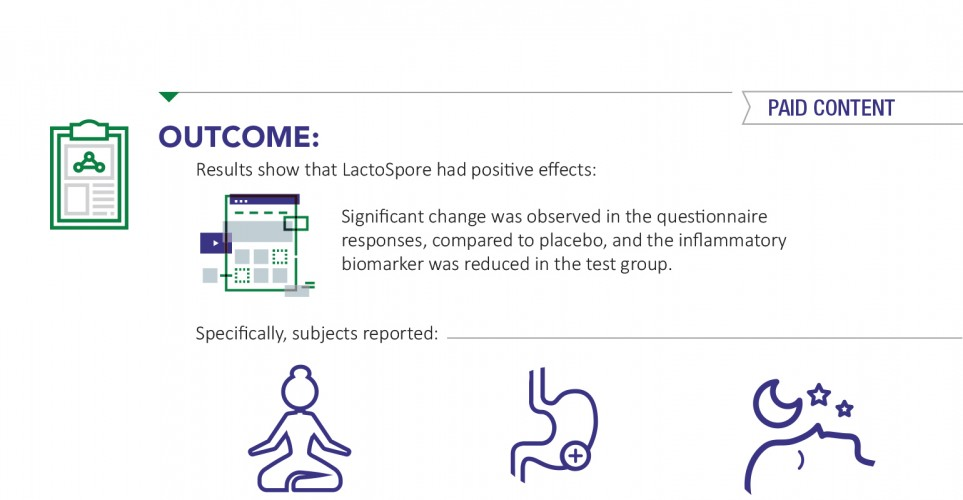 LactoSpore supports both mood and digestive health – infographic