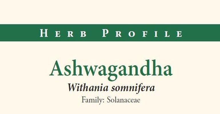 American Botanical Council Herb Profile: Ashwagandha