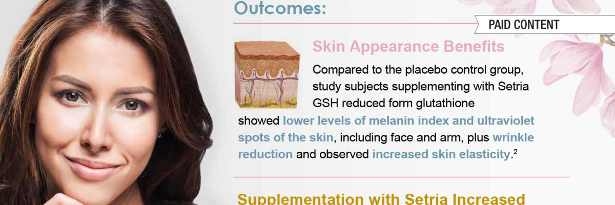 Setria Glutathione - Creating beauty from within — infographic