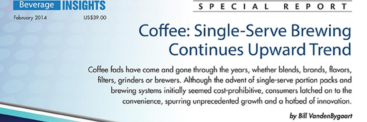 Report: Coffee  Single-Serve Brewing Continues Upward Trend