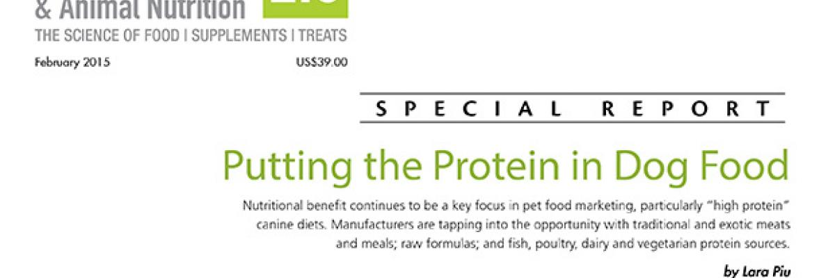 Report: Putting the Protein in Dog Food