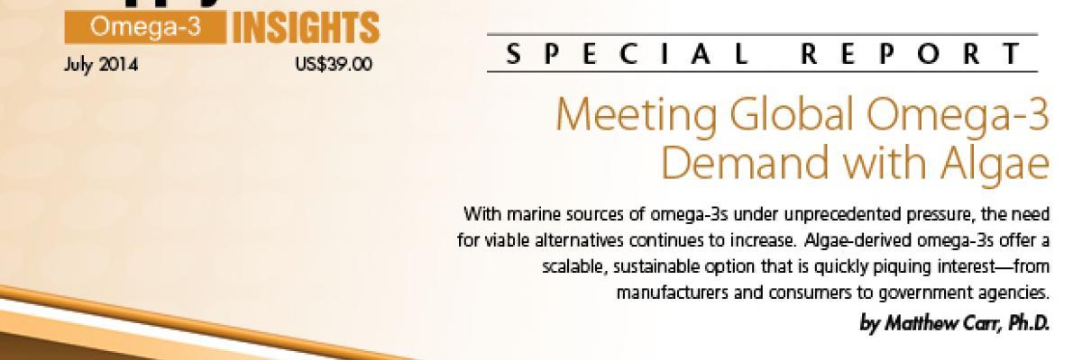 Report: Meeting Global Omega-3 Demand with Algae
