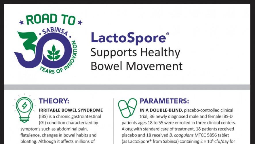 Infographic: LactoSpore® Aids Diarrhea Management in IBS