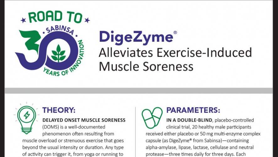 Infographic: DigeZyme® Alleviates Exercise-Induced Muscle Soreness