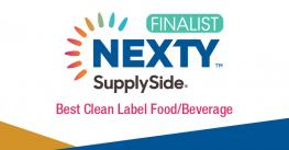 2019 NEXTY SupplySide Best Clean Label Food Beverage