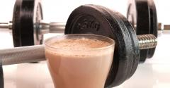 sports nutrition protein shake