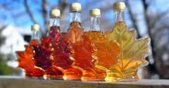 maple leaf syrup bottles